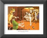 Jeu de billard entre chiens Art par Arthur Sarnoff