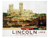 Lincoln with Boats Posters