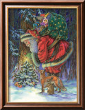 Santa's Star Art by Donna Race