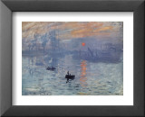 Impression, Sunrise Posters by Claude Monet