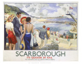 Scarborough, It&#39;s Quicker by Rail Prints