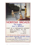 Norfolk Broads the Holiday That Is Different Print
