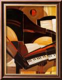 Abstraktes Piano (Miniatur) Kunstdrucke von Paul Brent