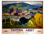 Tintern Abbey, Travel by Rail Prints