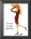 Wild Women: Live Well Poster by Judy Kaufman