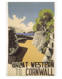 Great Western to Cornwall Affiche