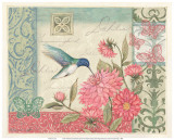 Dahlia Wings and Blossoms Print by Susan Winget