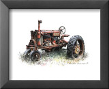 Early Model Farmall Tractor Poster by Sharon Pedersen