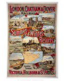 Summer and Winter Resorts Posters