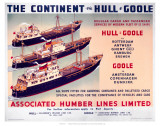 The Continent Via Hull and Goole Posters