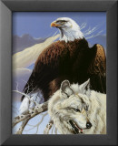 Eagle and Wolf Posters by Gary Ampel