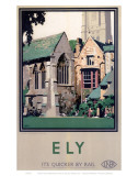Ely Close Up of Cathedral Posters