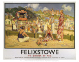 Felixstowe Punch and Judy Beach Art