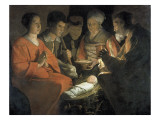 The Adoration of the Shepherds Giclee Print by Georges de La Tour