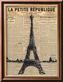 Paris Journal I Poster von Maria Mendez