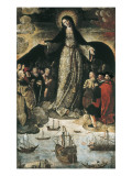 The Virgin of the Navigators Premium Giclee Print by Alejo Fernandez
