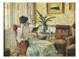 Woman Reading Giclee Print by Ricardo Lopez Cabrera