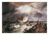 Calais Pier Posters by J. M. W. Turner