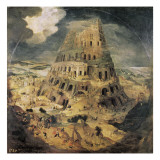Construction of the Tower of Babel Prints
