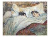 The Bed Kunst av Henri de Toulouse-Lautrec