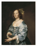 Portrait of Mary Ruthven, Lady Van Dyck Poster von Sir Anthony Van Dyck