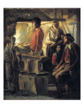 A Blacksmith in His Forge Giclee Print by Louis Le Nain