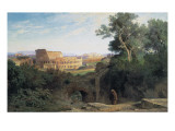 Colosseum Seen from the Palatin (Le Colisée Vu Du Palatin) Art by Jean Achille Benouville