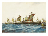 Viking Ships of the King Olaf I of Norway (995-1000) Premium Giclee Print