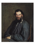 Portrait of Leon Tolstoy Giclee Print by Ivan Nikolaevich Kramskoi