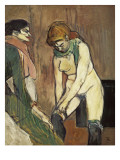 Woman Putting on Her Stocking, or Woman of the House Posters by Henri de Toulouse-Lautrec