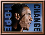 Barack Obama: Hope, Change Art by Peter Motz