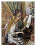 Two Young Girls at the Piano Prints by Pierre-Auguste Renoir