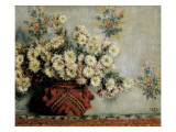 Chrysanthemums Giclee Print by Claude Monet