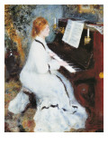 Femme au piano Reproduction proc&#233;d&#233; gicl&#233;e par Pierre-Auguste Renoir