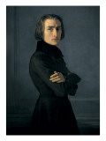 Retrato de Franz Liszt Láminas por Henri Lehmann