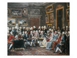 "Reading of the Tragedy ""L'Orphelin De La Chine"" by Voltaire in the Salon of Madame Geoffrin Giclee Print by Anicet-Charles Lemonnier"