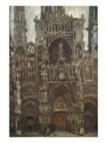 Rouen Cathedral, Evening, Harmony in Brown Giclee Print by Claude Monet