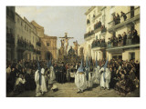 Procession of Holy Friday in Sevilla Giclee Print by Manuel Cabral Aguado y Bejarano