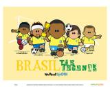 Weenicons: Brasil Plakater