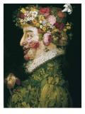 The Spring Kunst af Giuseppe Arcimboldo