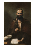 Democritus Giclee-tryk i høj kvalitet af Jusepe de Ribera
