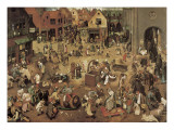 The Fight Between Carnival and Lent Konst av Pieter Bruegel the Elder