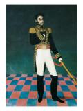Portrait of Simon Bolivar Prints by Jose Gil De Castro
