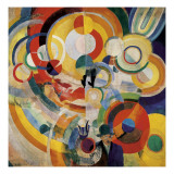 Carousel with Pigs Print by Robert Delaunay