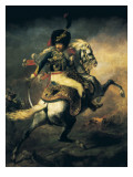 Officer of the Hussars Premium Giclee Print by Théodore Géricault