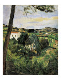 Pine-Tree at L'Estaque (Landscape with Red Roof) Premium Giclee Print by Paul Cézanne