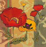 Majestic Poppies II Prints by Diane Hoeptner