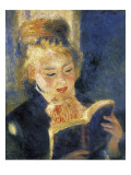 Girl Reading Prints by Pierre-Auguste Renoir