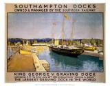 Southampton Docks Print