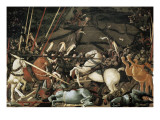The Battle of San Romano in 1432 Posters av Paolo Uccello